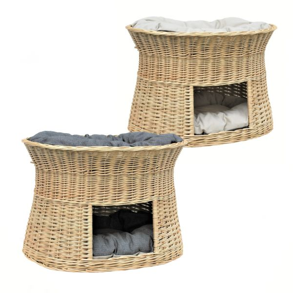 Weiße Katzenhöhle XXL (verschiedene Kissen)