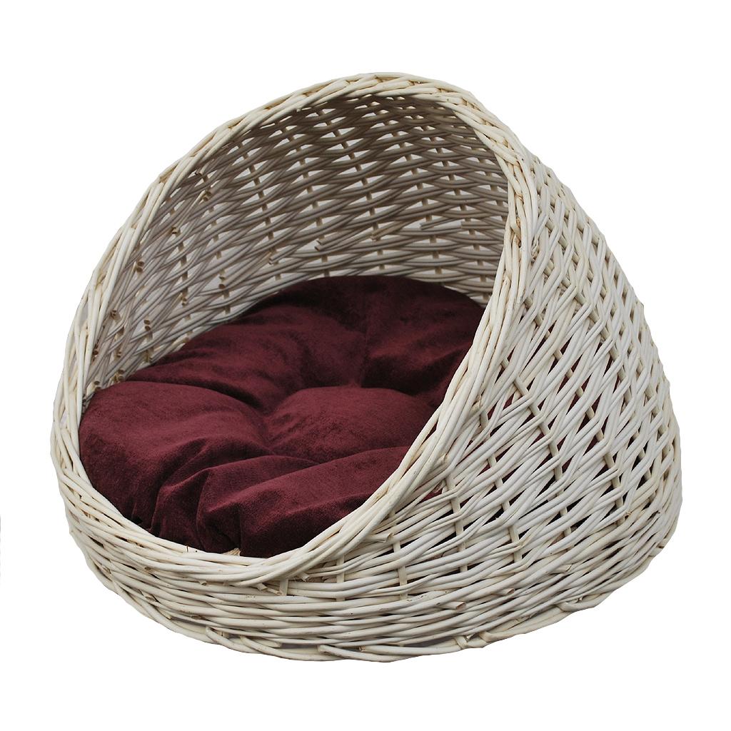 katzenkorb wei aus weide online kaufen. Black Bedroom Furniture Sets. Home Design Ideas