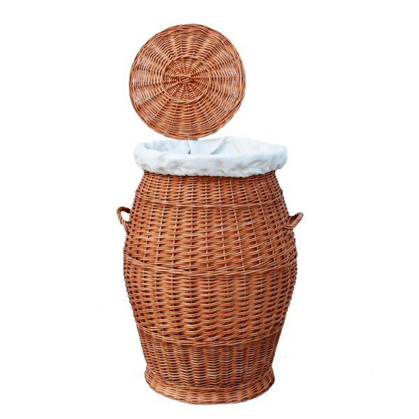 Wäschekorb (60 cm) Wäschesammler mit herausnehmbarem Futterstoff