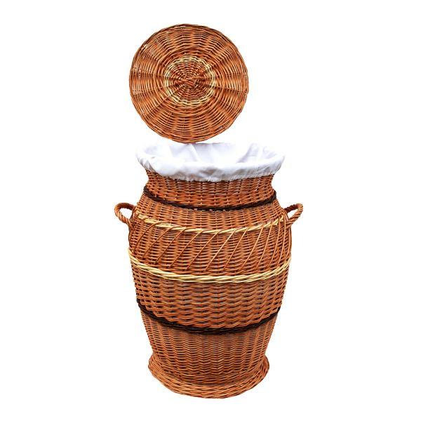 Kleiner Wäschekorb aus Weide (60 cm)